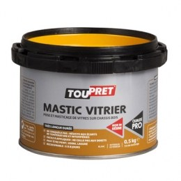mastic blanc pour pose et masticage de vitres 1 kg toupret. Black Bedroom Furniture Sets. Home Design Ideas