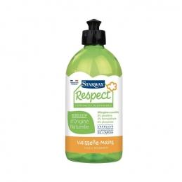 Produit vaisselle et mains avec matières actives d'origine naturelle - Respect - 500 ml - STARWAX