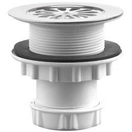 Siphon de douche avec sortie verticale et grille - Ø60 mm - NEPTUNE