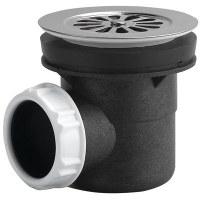 Siphon de douche avec sortie horizontale et grille - Ø90 mm - NEPTUNE