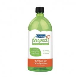 Déboucheur canalisations avec matières actives d'origine naturelle - Respect - 950 ml - STARWAX