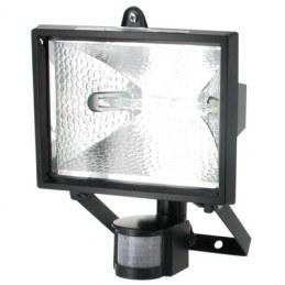 Projecteur halogène avec détecteur - Noir - DHOME