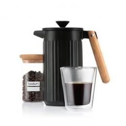 Cafetière à piston en porcelaine, 8 tasses, 1.0 L - Douro - Noir - BODUM