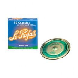 Capsule LE PARFAIT Familia Wiss - Ø 100 mm - Verte - Boîte de 12