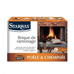 Brique de ramonage - Poêle et Cheminée - Formule brevetée - STARWAX