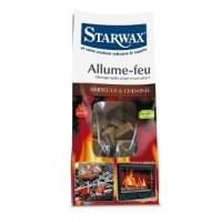 Carrés allume-feu en sac kraft 72 cubes - STARWAX