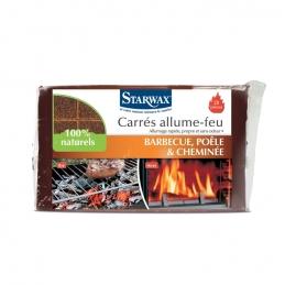72 Carrés allume-feu - Barbecue et cheminée - STARWAX