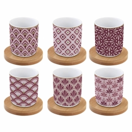 Coffret de 6 tasses à café Damask - Coffee Mania - Porcelaine - EASY LIFE