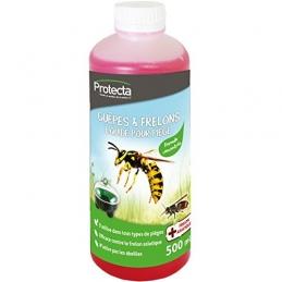 Répulsif liquide concentrée pour piège à guêpes et frelons - 500 ml - PROTECTA