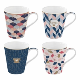 Coffret de 4 tasses à café Sweet home - Coffee Mania - Porcelaine - EASY LIFE