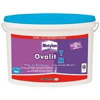 Colle pour revêtements textiles muraux et toiles de verre - Ovalit M - 0.750 Kg - METYLAN