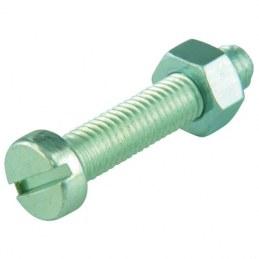 Boulon tête cylindrique fendue acier zingué - Ø 5 x 50 mm - Lot de 6 - FIX'PRO