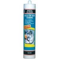 Mastic blanc pour salle de bains - 310 ml - PVM