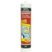 Mastic gris pour maçonnerie / fissures - 310 ml - PVM