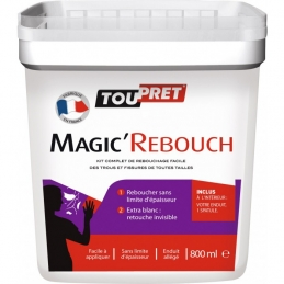 Enduit de rebouchage en pâte - Magic'Rebouch - 800 ml - TOUPRET