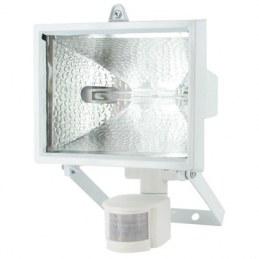 Projecteur halogène 120 W avec détecteur Blanc - DHOME