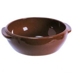 Plat rond couleur Brun - 0.5 L
