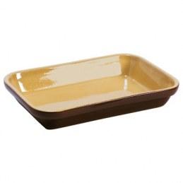 Plat rectangulaire en grès couleur Brun - 1.8 L
