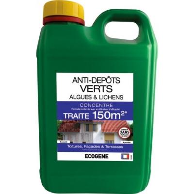 Anti-dépôts verts - Algues et Lichens - 2 L - ÉCOGENE