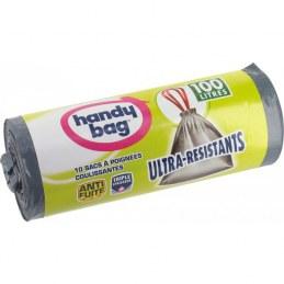 Sac poubelle 100 L - Ultra-résistant - Poignée coulissante - HANDY BAG