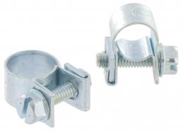 Collier de serrage Mini clamp - Acier - 11 x 13 mm et 13 x 18 mm - CAP VERT