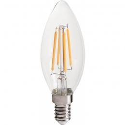 Ampoule LED - Flamme - Filament E14 - 3.3 W - 470 lumens - DHOME