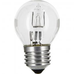 Ampoule halogène ECO - Sphérique - E27 - 20 W - 240 Lumens - DHOME