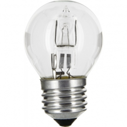 Ampoule halogène ECO - Sphérique - E27 - 30 W - 410 Lumens - DHOME