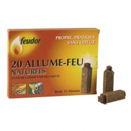Allumes feux naturel - x 20 - FEUDOR
