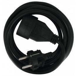 Rallonge câble souple - 2P + T - 5 M - Noir - DHOME