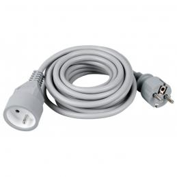 Rallonge câble souple - 2P + T - 3 M - Gris - DHOME