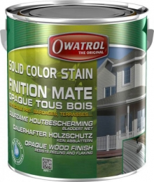 Laque de finition pour bois - Opaque Mate - Solid Color Stain - Vert olive - 2.5 L - OWATROL