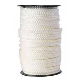 Bobine de 100 m Drisse tressé blanc - Ø8 mm