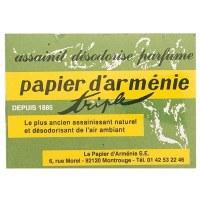 Carnet papier d'armenie triple