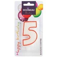 Bougie anniversaire N°5 - DEVINEAU