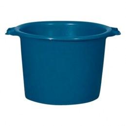 Baquet rond renforcé - Bleu - 55 L