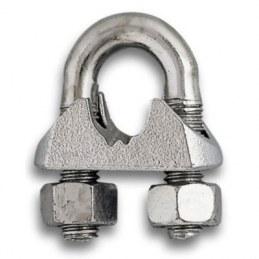 Serre câble étrier en acier - Lot de 10 - Ø 6.5 mm