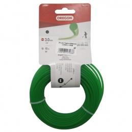 Fil de coupe pour débroussailleuse - Vert - 3 mm x 15 M - OREGON