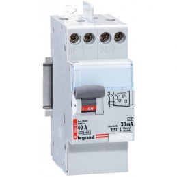 Interrupteur différentiel bipolaire - Type A 30 mA arrivée haut/départ bas 40 A - LEGRAND