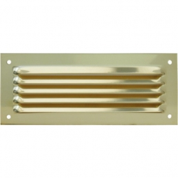 Grille de ventilation sans moustiquaire - métal - Rectangle - 240 x 140 mm - Laiton - DMO