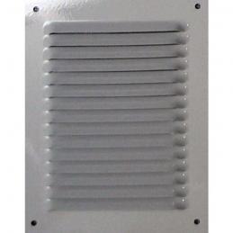 Grille de ventilation avec moustiquaire - métal - Verticale - 240 x 140 mm - Blanc - DMO