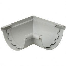 Angle gouttière demi-ronde à coller mixte - Ø25 mm - Gris - GIRPI