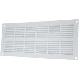 Grille de ventilation plate à visser - Plastique - Blanc - 251 x 108 mm - DMO