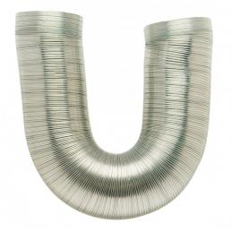 Gaine flexible et extensible de 0.45 à 1.5 M - Aluminium - 125 mm - DMO
