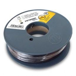 Câble coaxial noir en bobine de 25 m - METRONIC