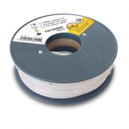 Câble coaxial blanc en bobine 5 m - METRONIC