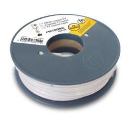 Câble coaxial blanc en bobine 10 m - METRONIC