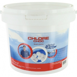 Chlore choc en pastilles - Effet immédiat - 5 Kg - EDG