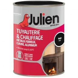 Peinture Tuyauterie et chauffage - Noir Mat - 250 ml - JULIEN