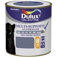 Peinture multi-supports extérieure - Satin - 0.5 L - Titane - DULUX VALENTINE